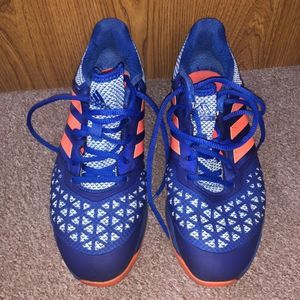 Adidas Turf Shoes red white and blue size 10